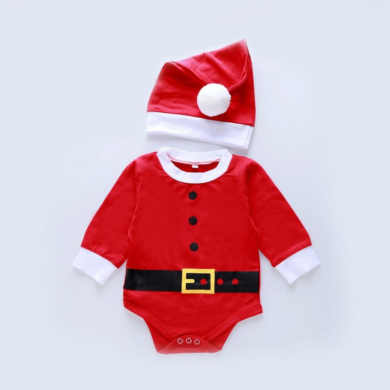 Baby Boys Christmas Long Sleeve Romper & Hat Buy Baby Clothes Wholesale - PrettyKid