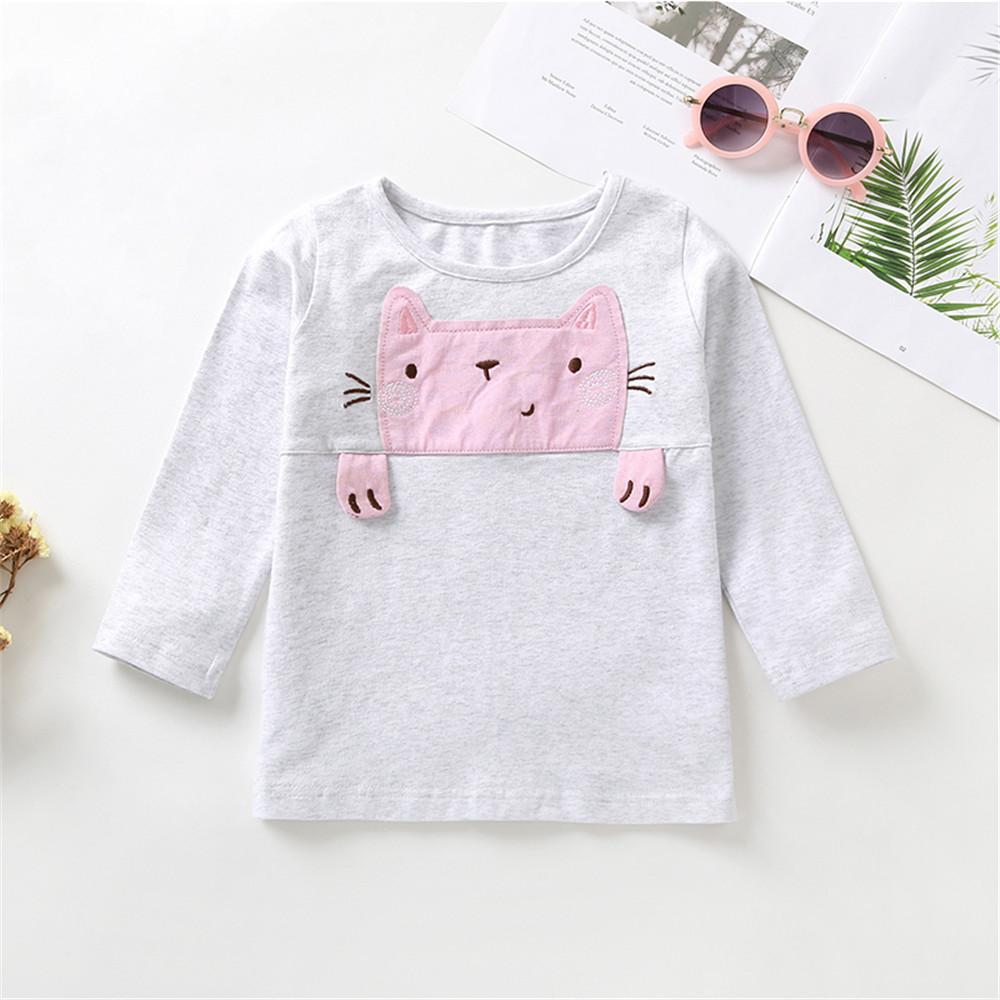 Baby Girls Cute Long Sleeve Printed Cat&Striped Pants Wholesale Baby Accessories - PrettyKid