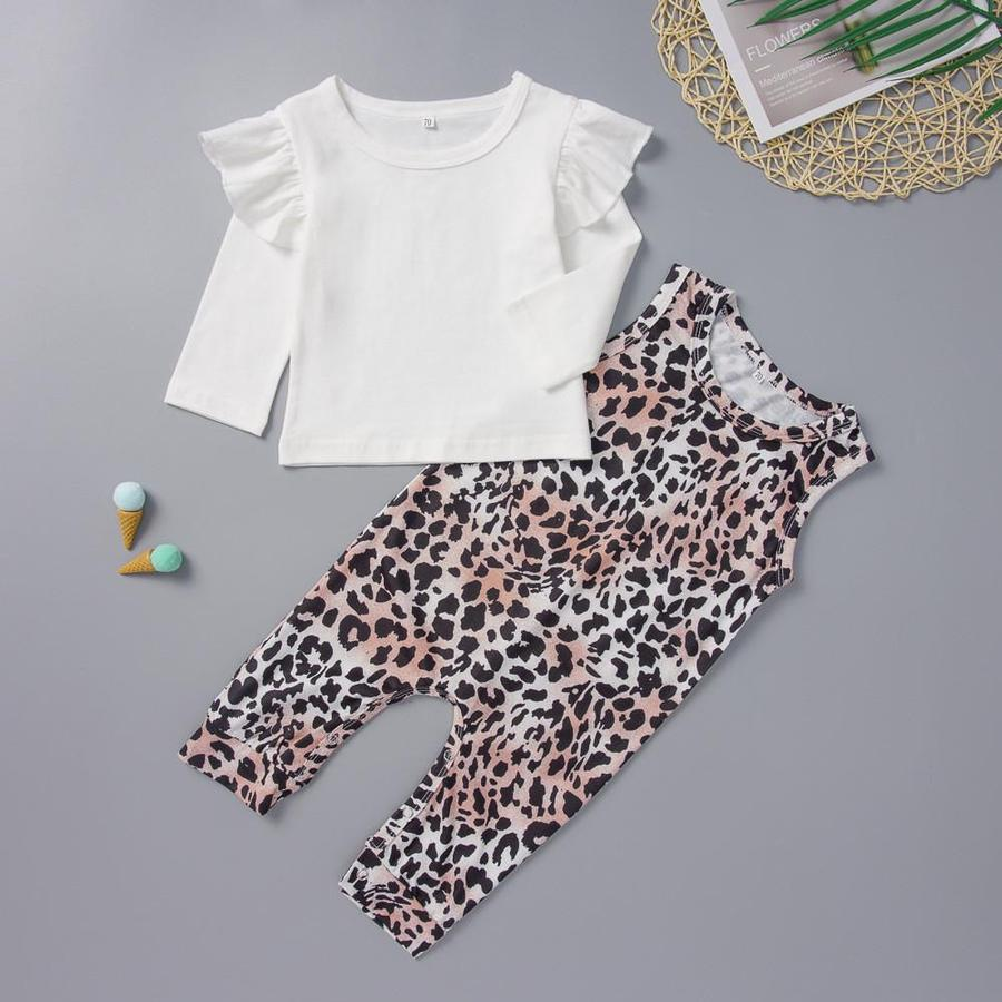 Baby Girl Swan Leopard Pattern Jumpsuit for Baby Girl
