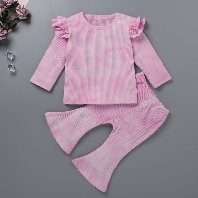 Baby Girls Tie Dye Long Sleeve Top & Pants Wholesale Baby Boutique Items