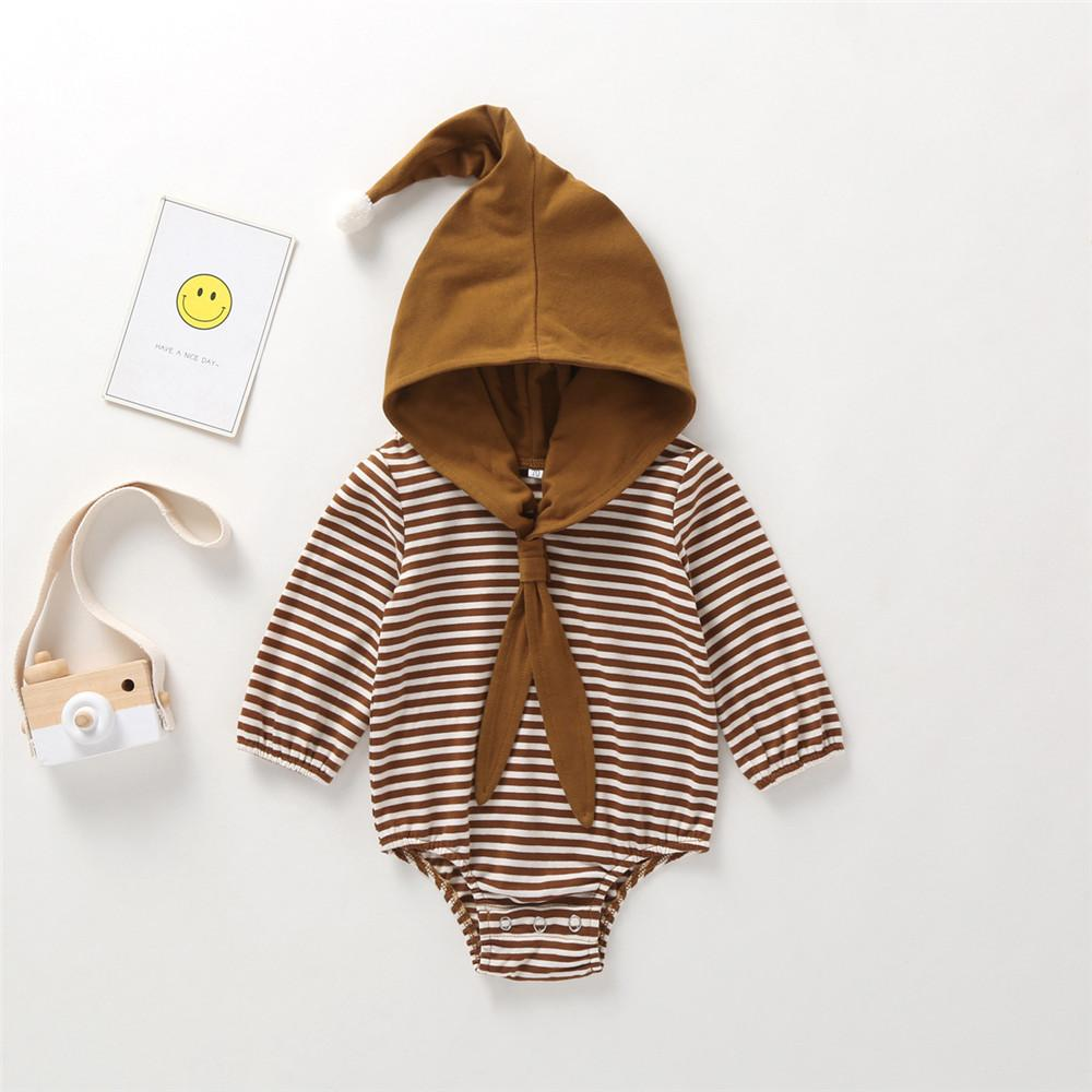 Baby Girls Unisex Cute Hooded Solid Romper Baby Clothing Cheap Wholesale - PrettyKid