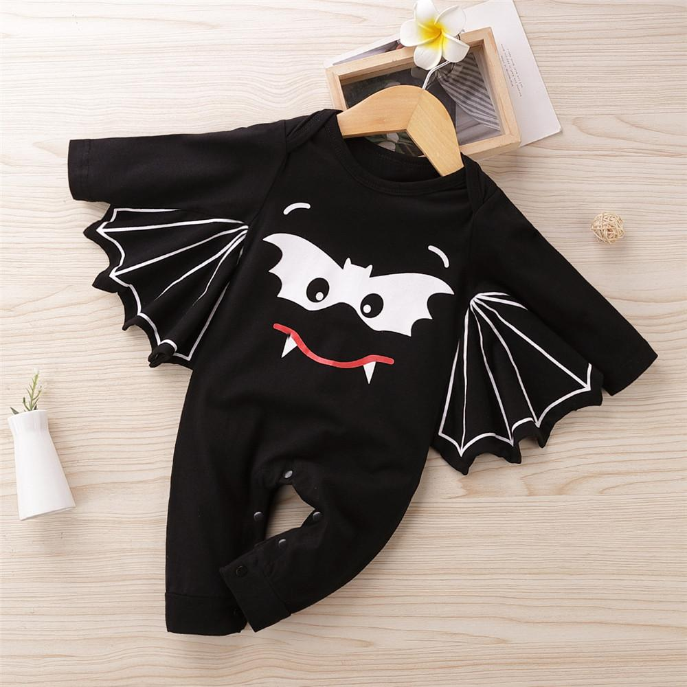 Baby Unisex Bat Pattern Long Sleeve Romper Baby Clothes Warehouse - PrettyKid