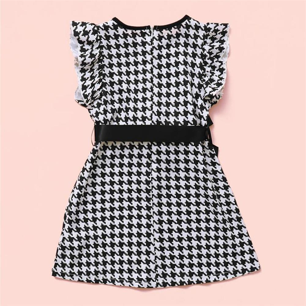 Toddler Girls Bow Decor Plaid Sleeveless Dress dropship childrens boutique clothing