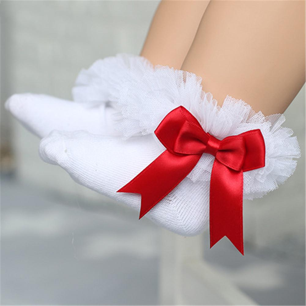 Baby Girls Bow Mesh Sweet Princess Socks Baby Accessories Wholesale - PrettyKid