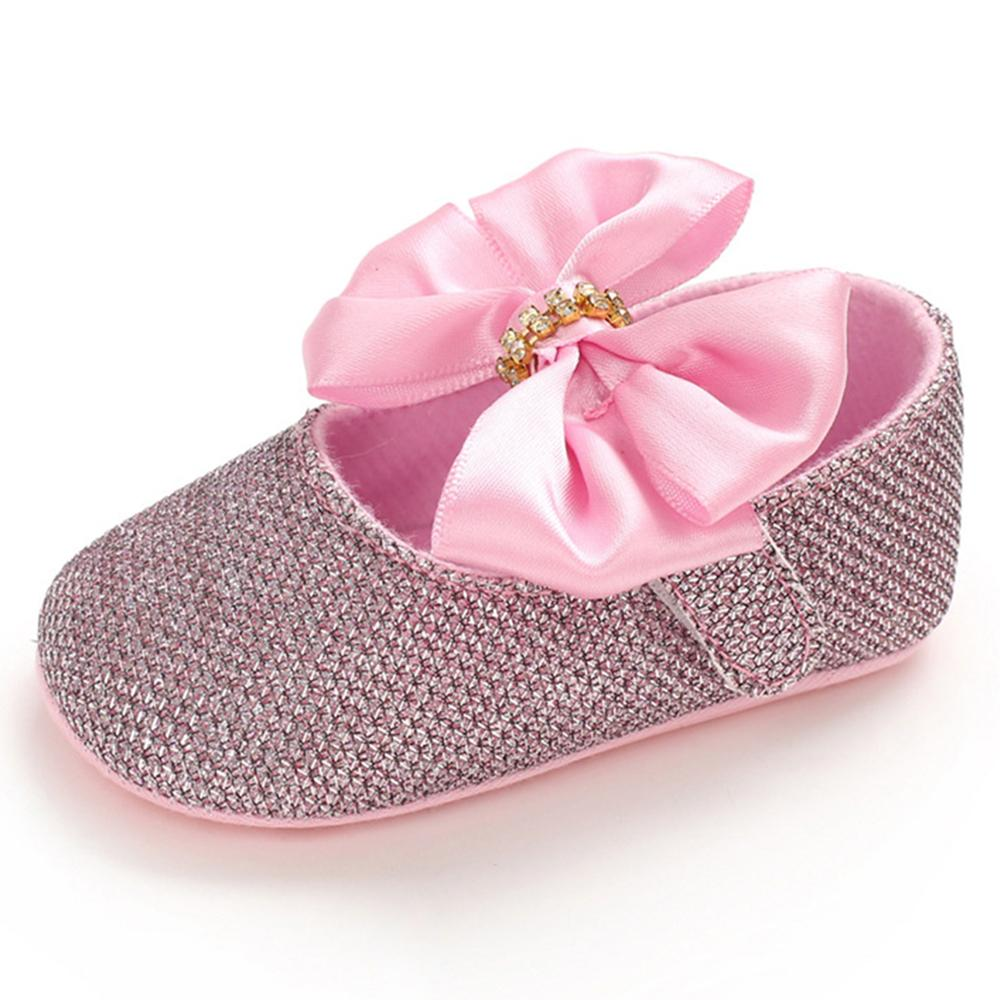 Baby Girls Bow Sequins Magic Tape Princess Shoes Children Wholesale Shoes