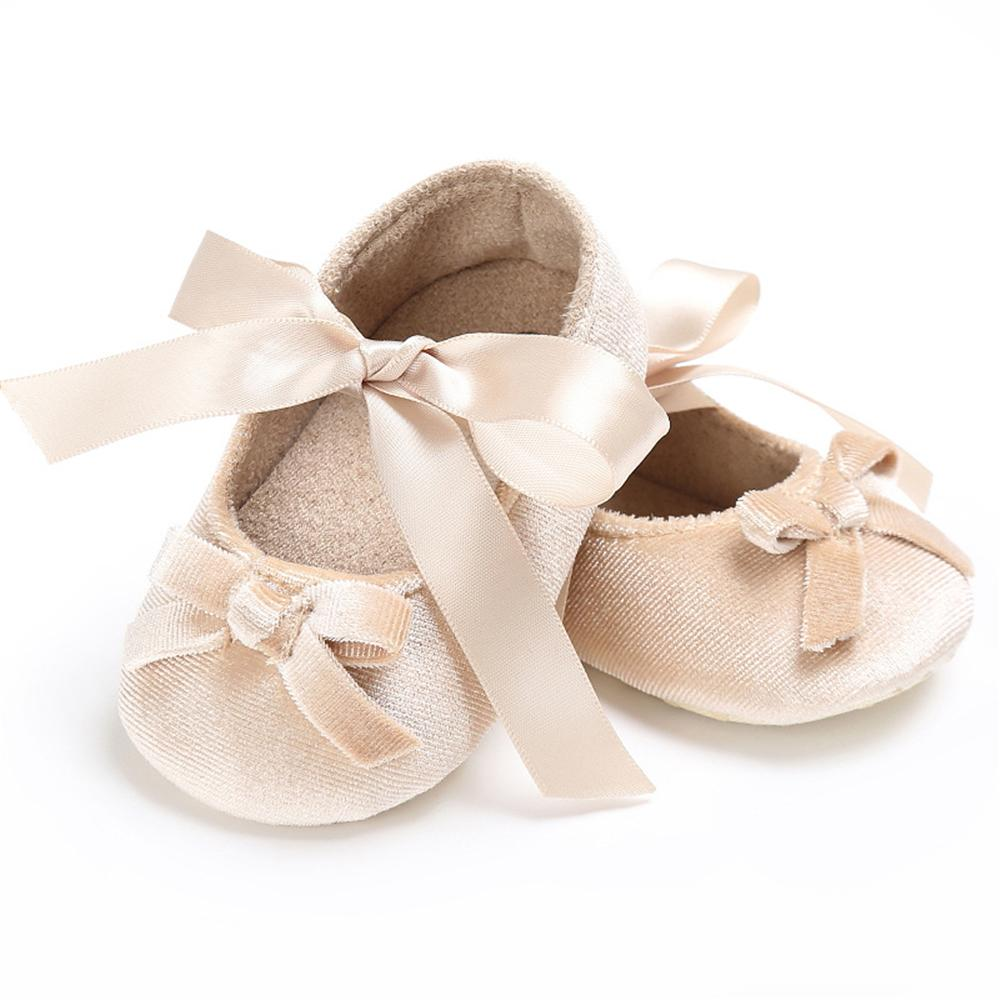 Baby Girls Bow Slip On Soft Sole Flat Shoes Wholesale