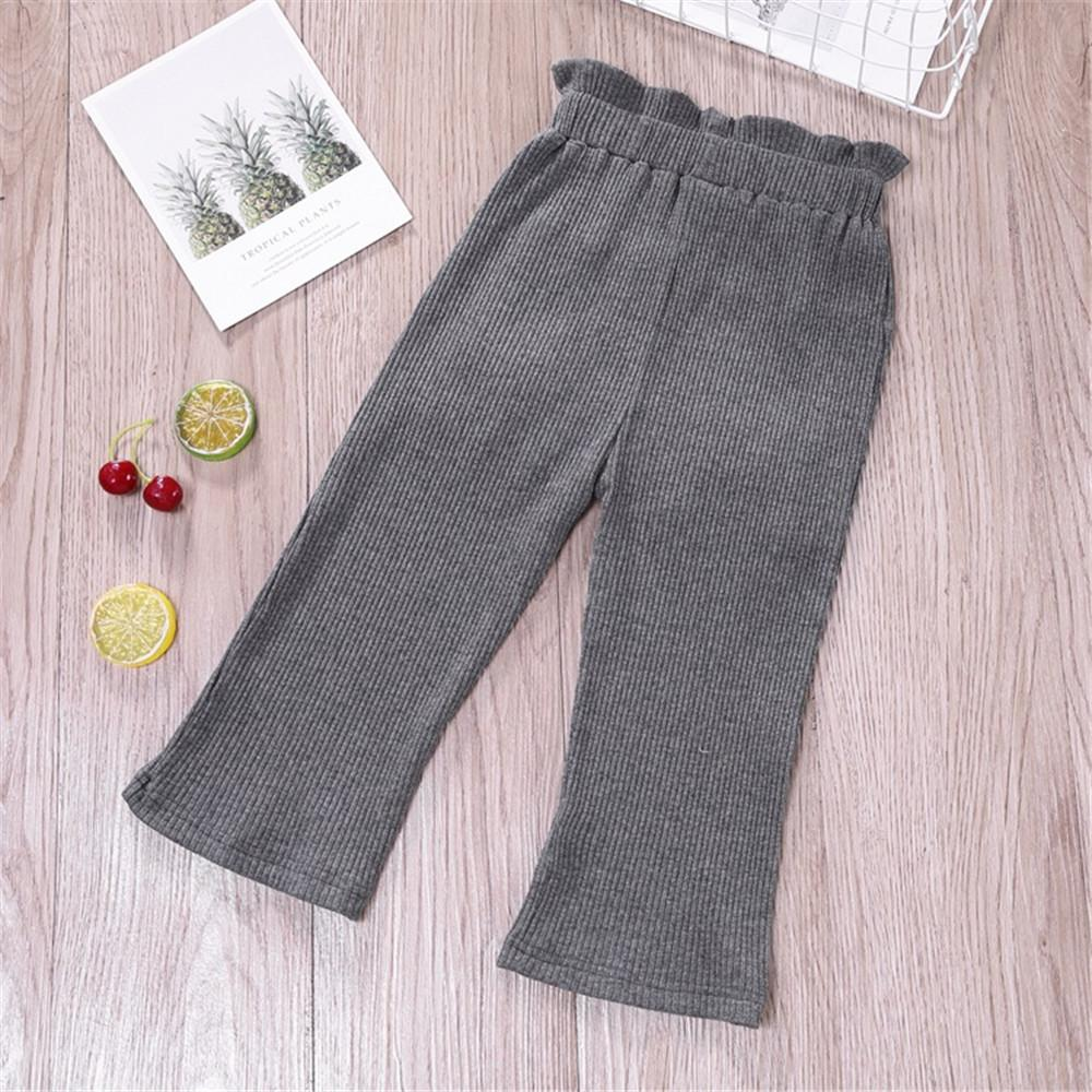 Toddler Girls Bow Solid Pocket Pants Wholesale Girls Leggings