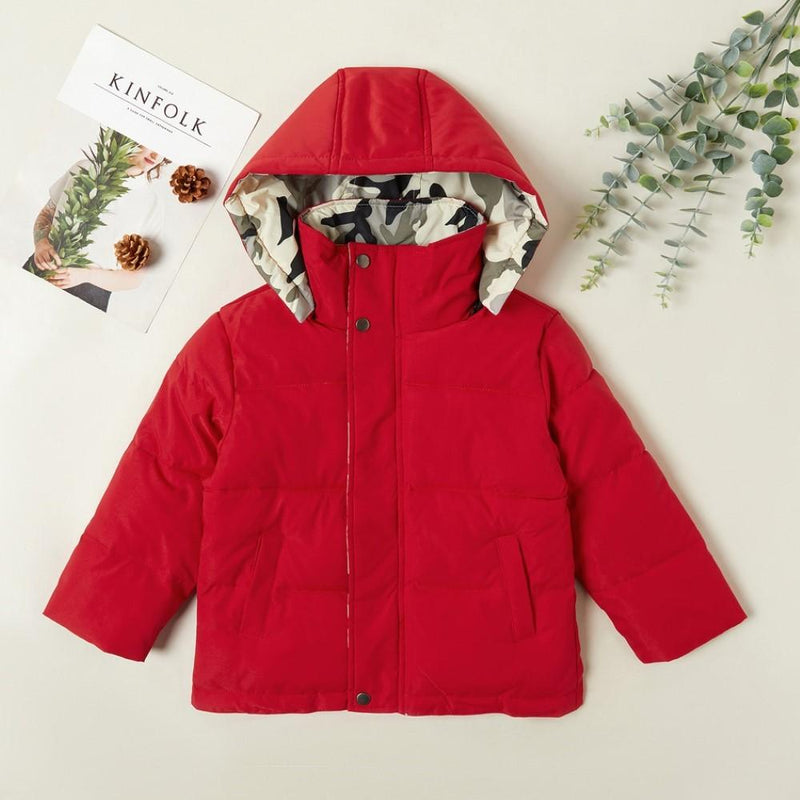 Boys Camouflage Stand-up Collar Hooded Coats Wholesale Boys Clothing Suppliers - PrettyKid