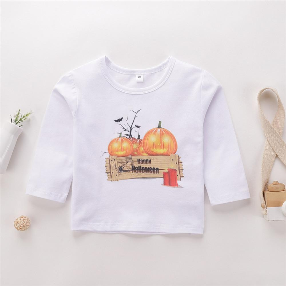 Boys Halloween Pumpkin Printed Top Boy Wholesale Clothing - PrettyKid