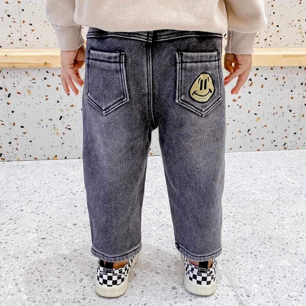Boys Elastic Band Smile Printed Pants Wholesale Boys Jeans