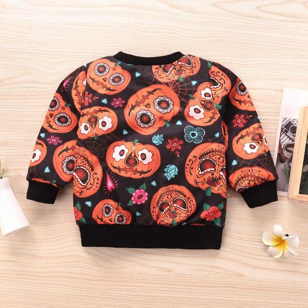 Boys Halloween Pumpkin Printed Top Boys Clothes Wholesale - PrettyKid