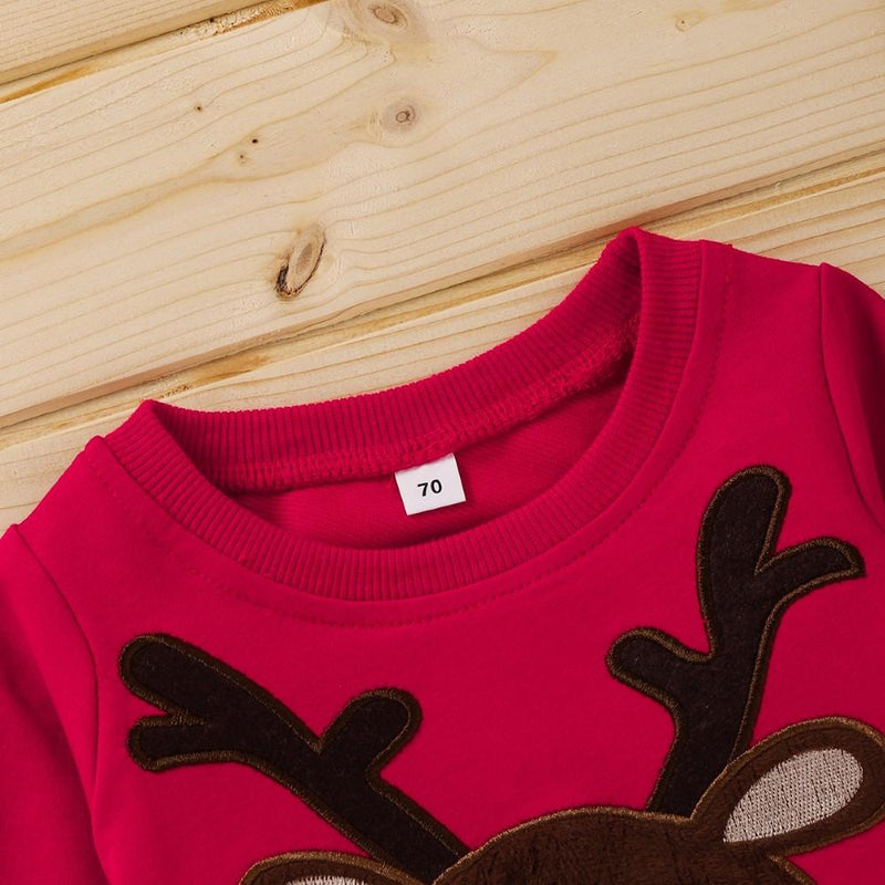 Boys Long Sleeve Christmas Cartoon Elk Shirt Boys Wholesale - PrettyKid