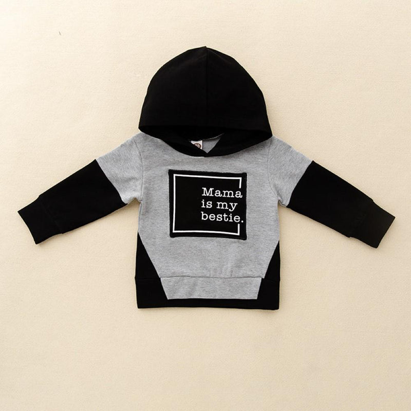 Boys Mama Letter Printed Hooded Suits Boys Clothes Wholesale - PrettyKid