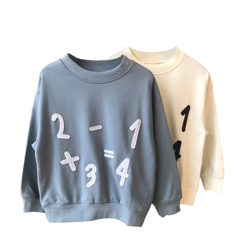 Boys Math Printed Long Sleeve Top Boys Boutique Clothing Wholesale - PrettyKid