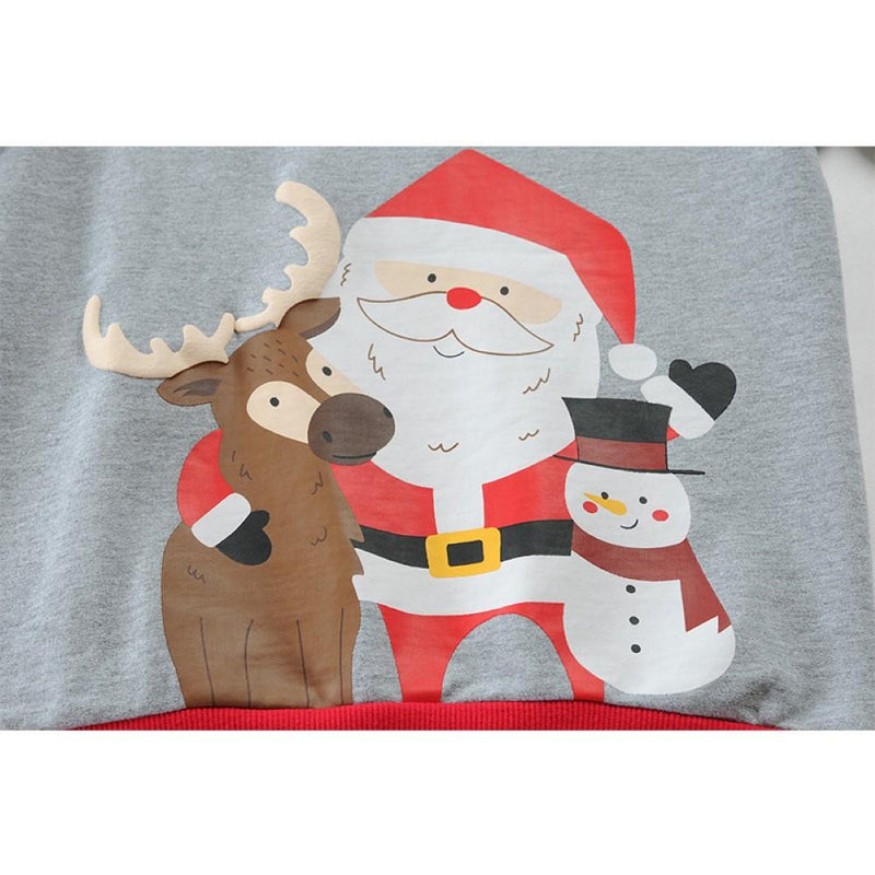 Boys Santa Claus Cartoon Printed Top Wholesale Boys Clothing - PrettyKid