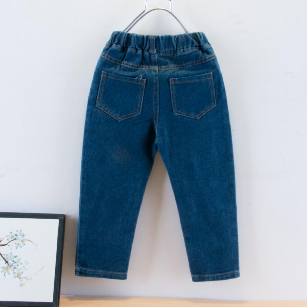 Boys Solid Color Casual Jeans Boys Clothes Wholesale
