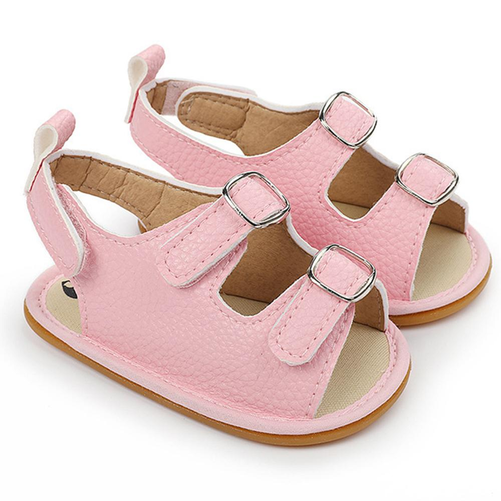 Baby Unisex Buckle Magic Tape Solid Sandals Wholesale Baby Shoes - PrettyKid