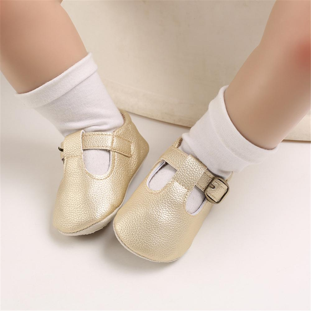 Baby Girls Buckle Solid Comfy Flats Baby Shoes Wholesales