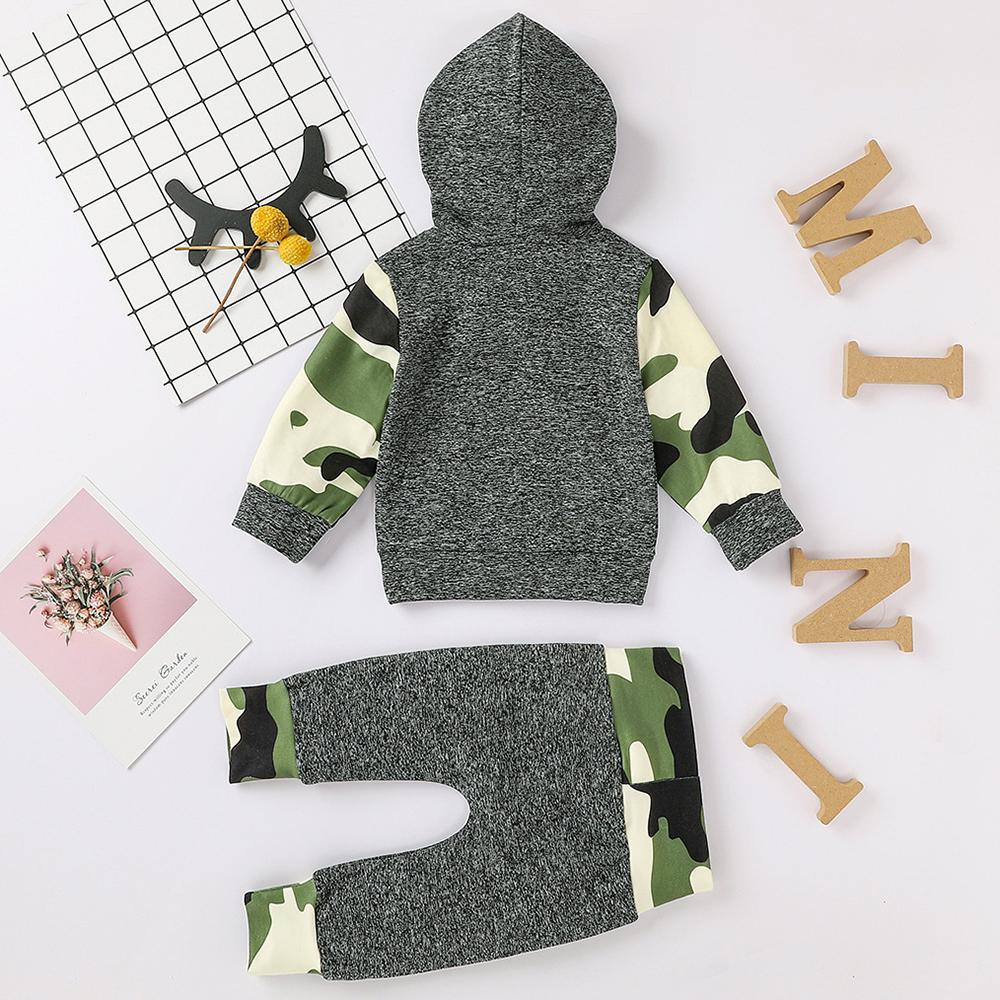 Baby Boys Camo Hooded Top & Trousers Baby Boutique Clothing Wholesale