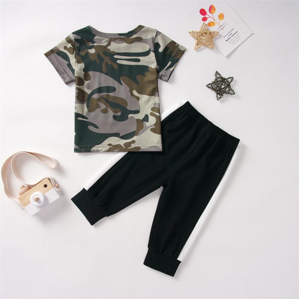 Baby Boys Camouflage Short Sleeve This Dude Is Epic Top & Pants Baby Clothing Distributor