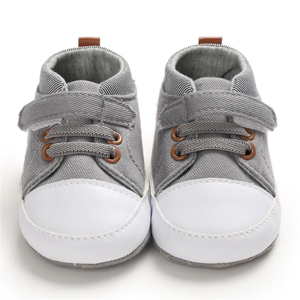 Baby Boys Canvas Magic Tape Casual Sneakers - PrettyKid