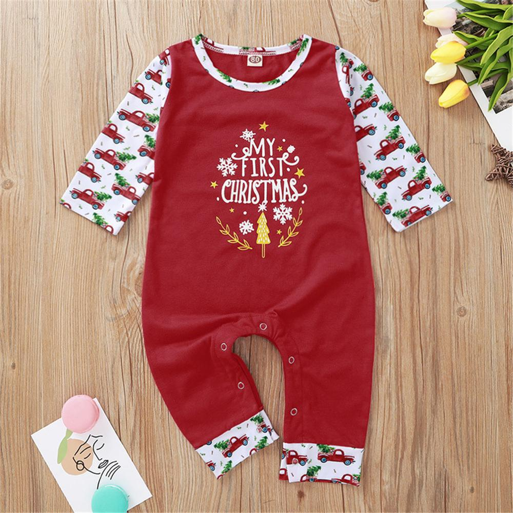 Baby Unisex Cartoon Letter Printed Long Sleeve Romper Baby Clothes Suppliers - PrettyKid
