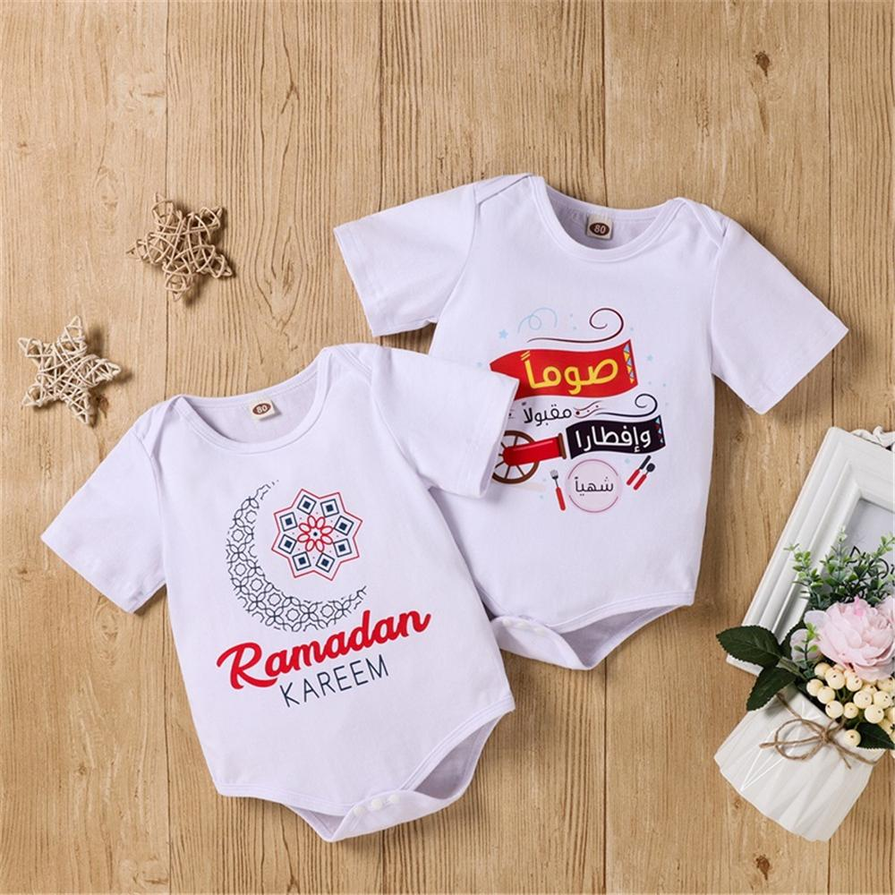 Baby Cartoon Letter Printed Short Sleeve Romper kids cloth wholesale - PrettyKid