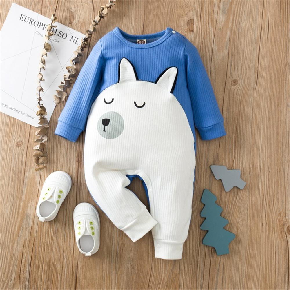 Baby Unisex Cartoon Long Sleeve Cute Romper Baby Clothing Cheap Wholesale - PrettyKid