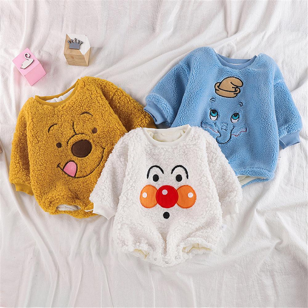 Baby Unisex Cartoon Long Sleeve Warm Romper Wholesale Baby Clothes In Bulk