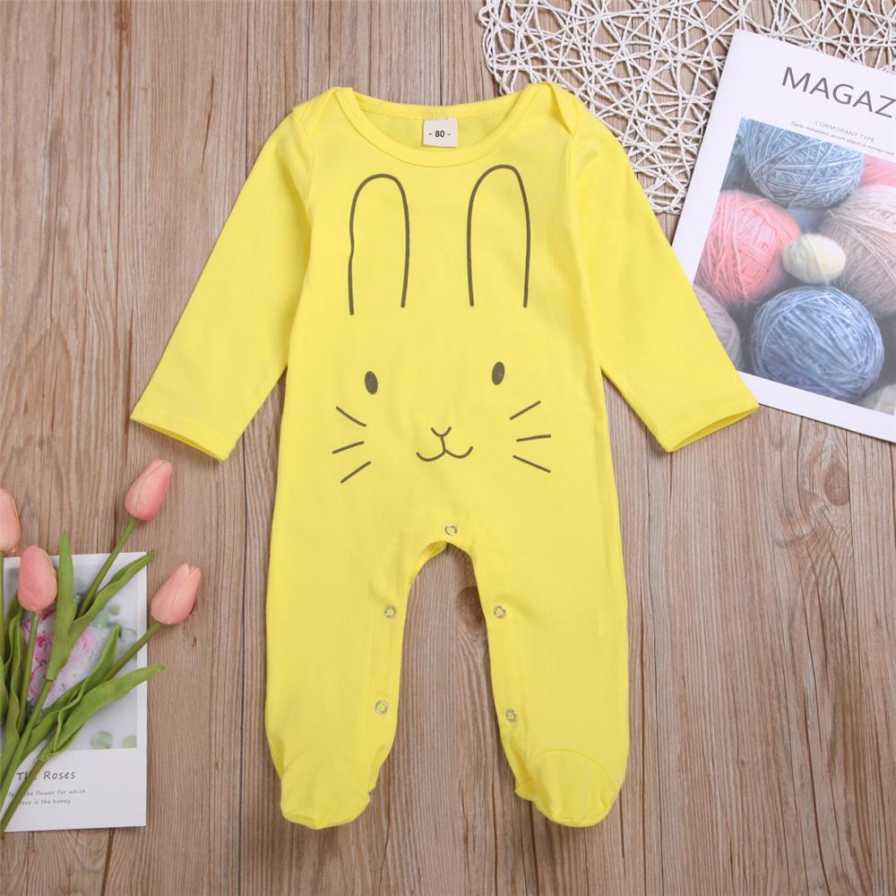 Baby Unisex Cartoon Rabbit Long Sleeve Romper Wholesale Baby Outfits - PrettyKid