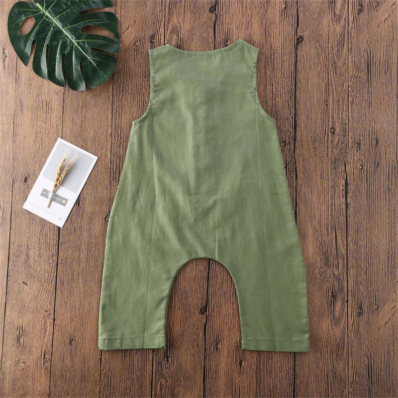 Baby Boys Casual Pocket Solid Color Romper Cheap Baby clothing Online Wholesale