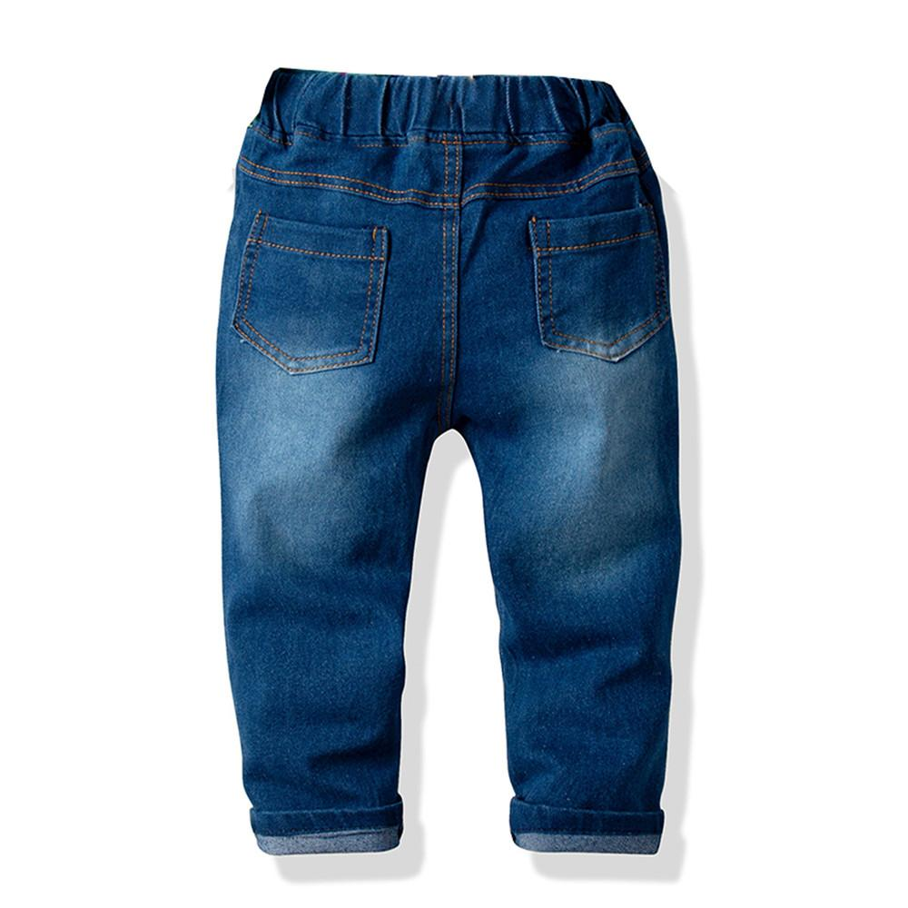 Boys Casual Pocket Solid Jeans Wholesale