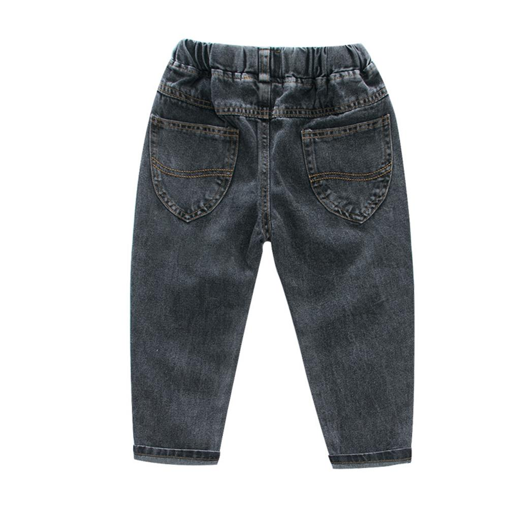 Boys Casual Solid Color Jeans Wholesale Toddler Boy Clothes
