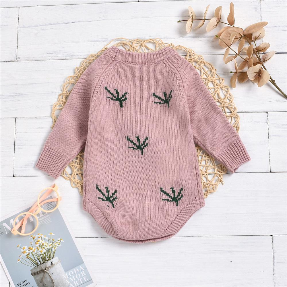 Baby Girls Cherry Ball Long Sleeve Crew Neck Romper Baby Clothes Vendors