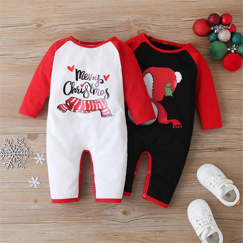 Baby Unisex Christmas Color Block Romper Baby Clothes Suppliers - PrettyKid