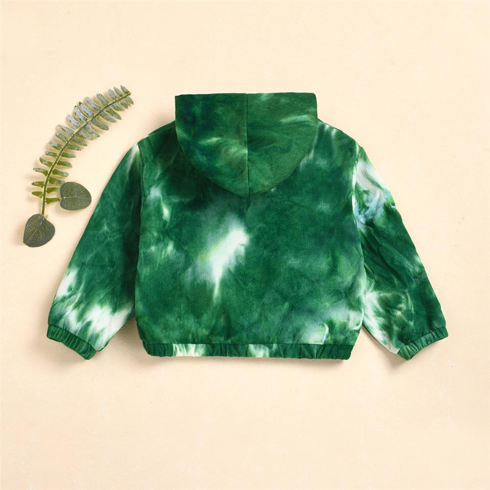 Unisex Corduroy Tie Dye Hooded Long Sleeve Jacket Wholesale Childrens Boutique Clothing