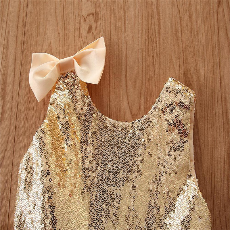 Girls Bow Decor Sleeveless Solid Color Tulle Princess Dress Girls Wholesale Dresses