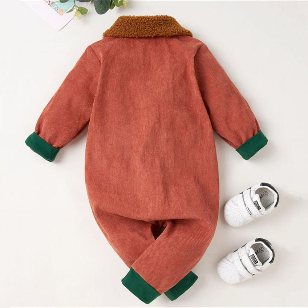 Baby Unisex Fur Collar Long Sleeve Zipper Romper Bulk Baby Clothes Online