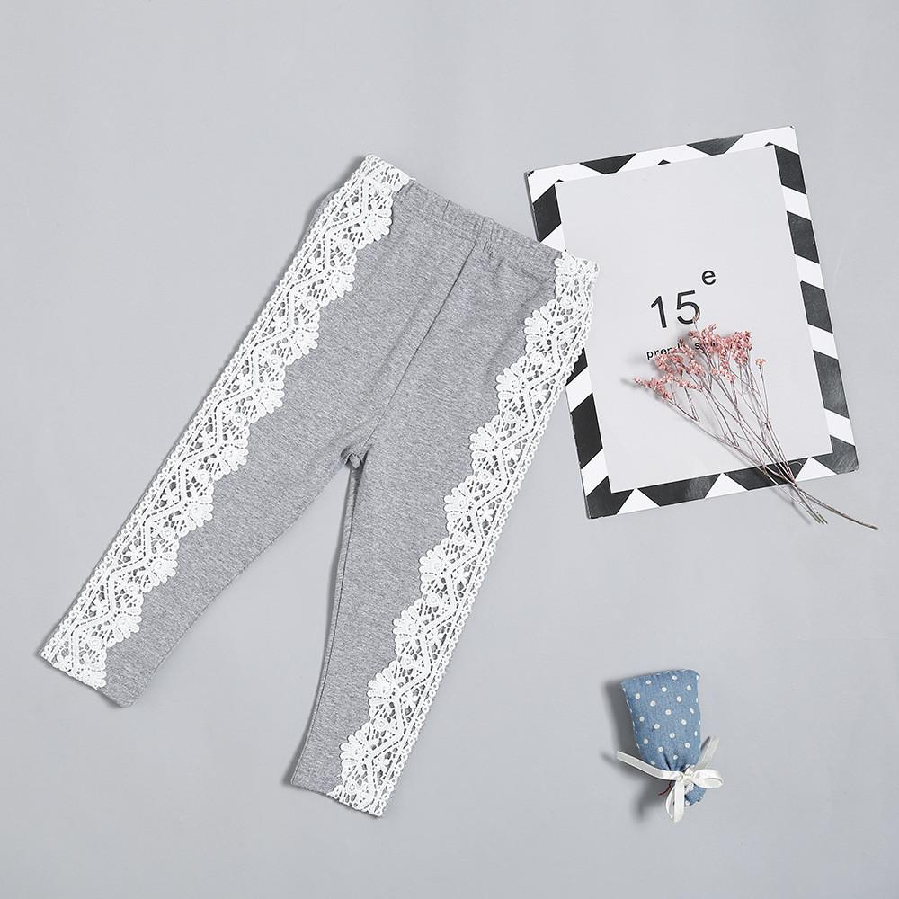 Girls Lace Solid Pants Leggings Wholesale Girls Accessories - PrettyKid