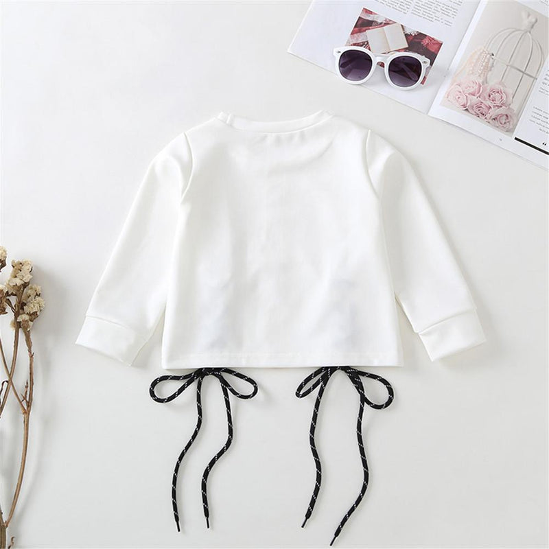 Girls Long Sleeve Round Neck Printed Tops Girls Clothing Wholesalers