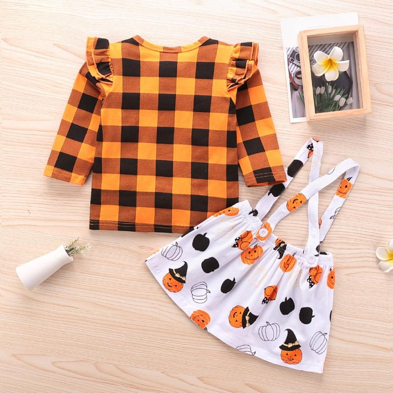 Girls Plaid Long Sleeve Top & Dress Girls Clothing Wholesalers