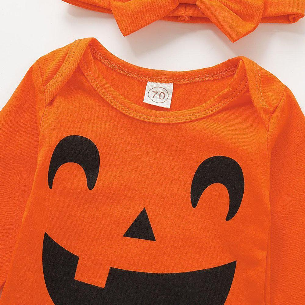 Baby Girls Halloween Bodysuit & Headband & Tights - PrettyKid