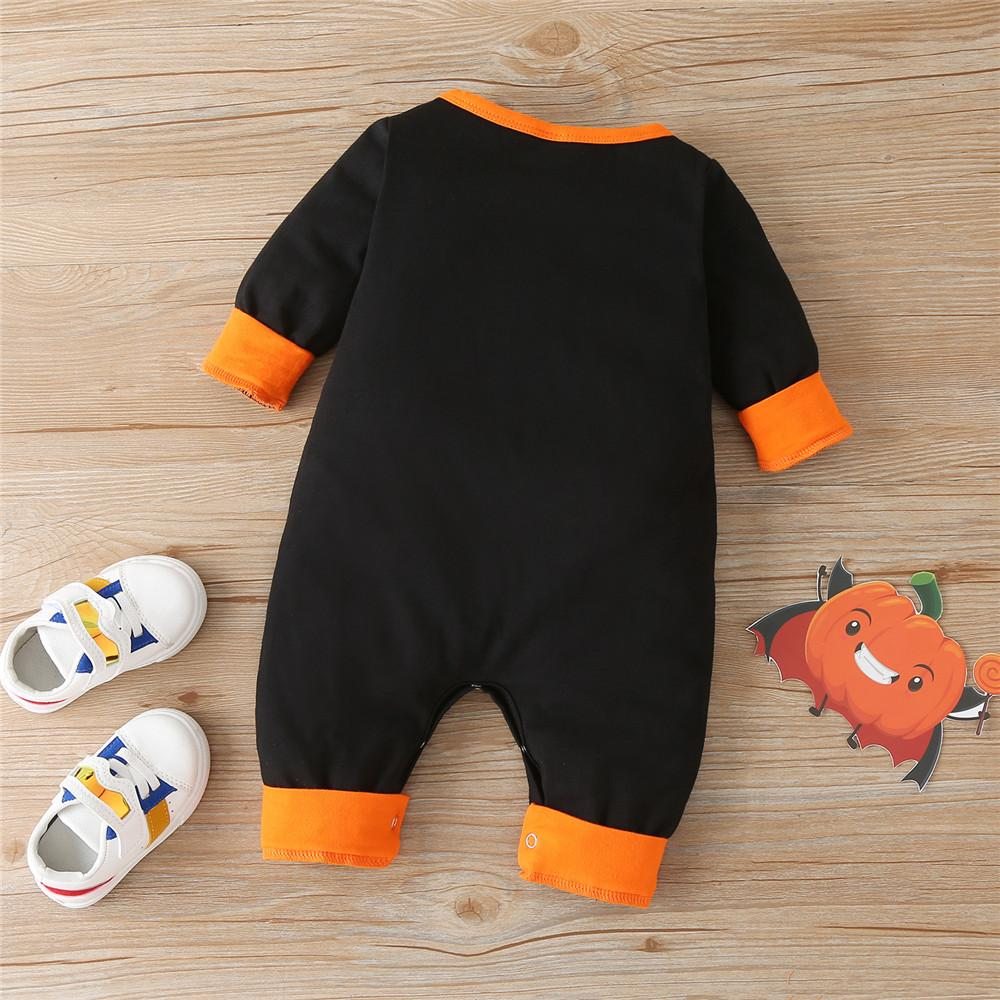 Baby Boys Halloween Demon Printed Romper Baby Wholesale Suppliers - PrettyKid
