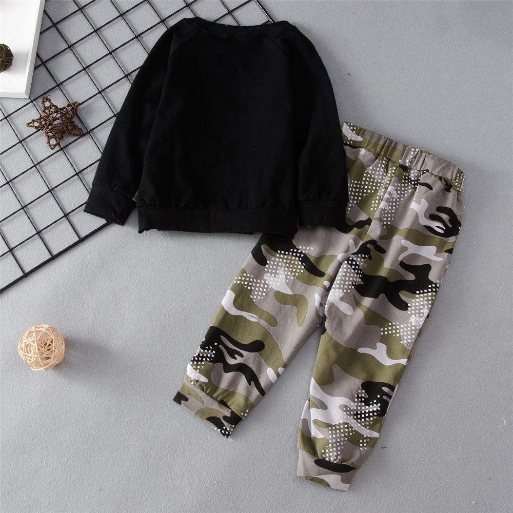 Unisex Hero Of The Day Camo Printed Tracksuit Trendy Kids Wholesale Clothing