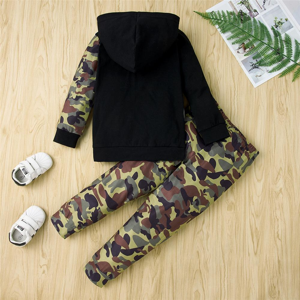 Boys Hooded Bear Long Sleeve Camo Tracksuit Wholesale Childrens Clothing - PrettyKid
