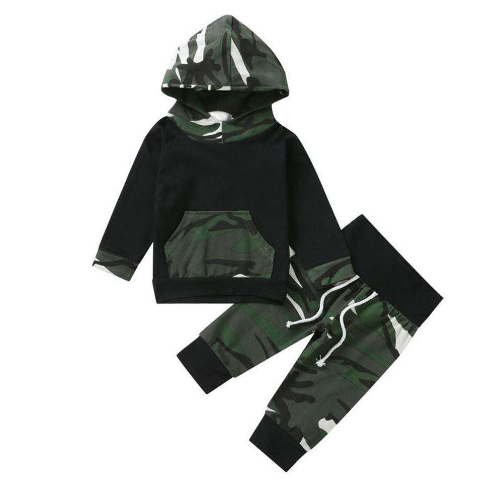 Baby Boys Hooded Camo Long Sleeve Tracksuit Wholesale Baby Outfits - PrettyKid