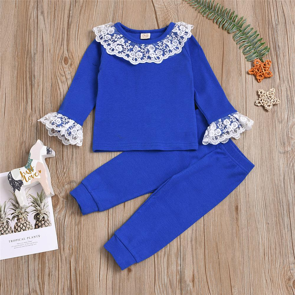 Baby Lace Long Sleeve T-Shirt & Pants Baby Clothes Wholesale Suppliers - PrettyKid