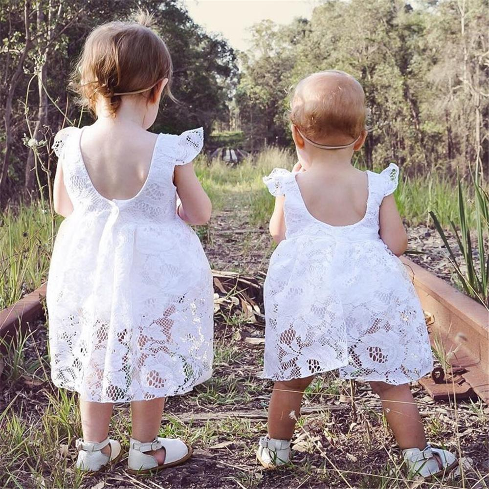 Baby Girls Lace Onesie Solid Color Sleeveless Romper Cheap Baby clothing - PrettyKid