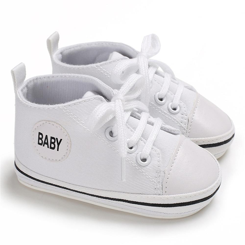 Baby Lace Up Canvas Sneakers Wholesale Toddlers Canvas Shoes - PrettyKid