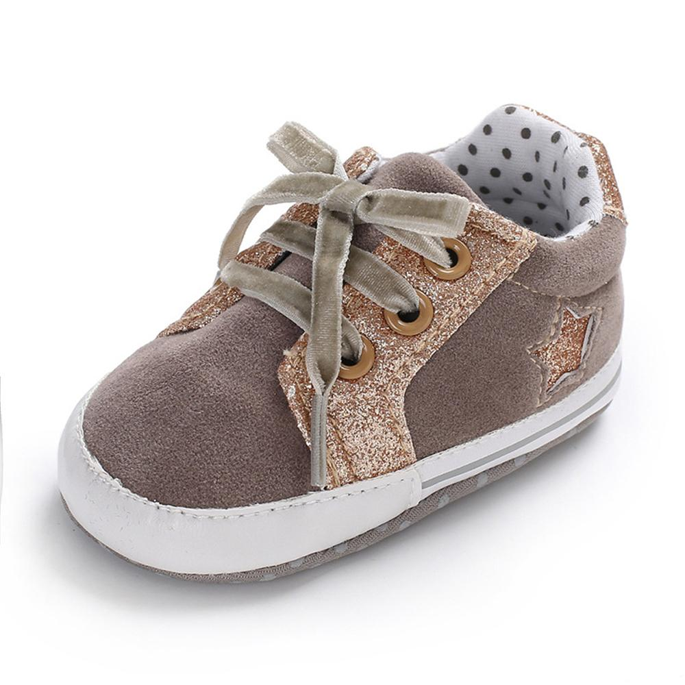 Baby Girls Lace Up Canvas Star Sneakers Wholesale - PrettyKid